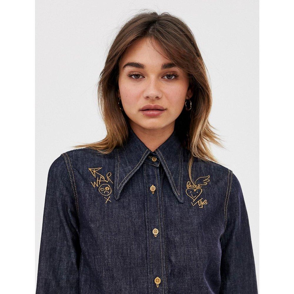 Chemise en jean style western à col brodé - Vivienne Westwood Anglomania - Modalova