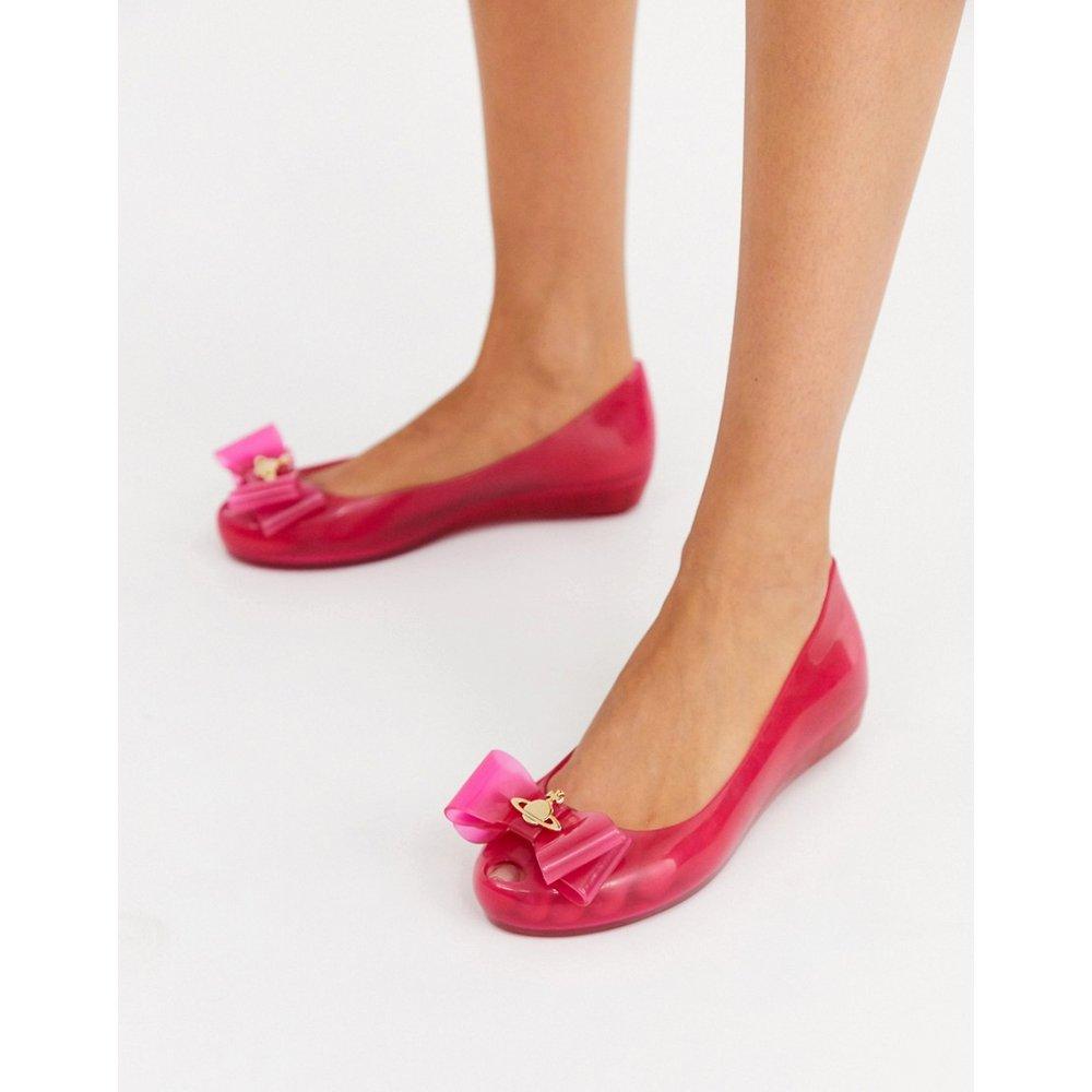 Chaussures plates avec nœud sur la bordure - Vivienne Westwood for Melissa - Modalova