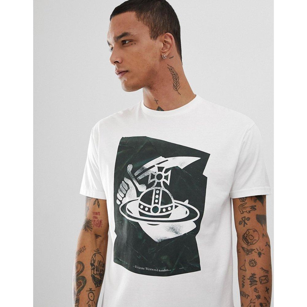 T-shirt en coton bio avec grand imprimé orbe - Vivienne Westwood - Modalova