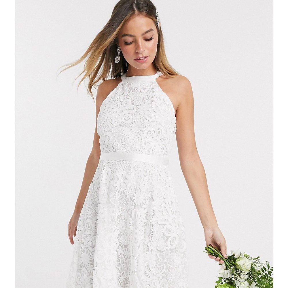 Robe courte de mariée - Dentelle blanche - Y.A.S Petite - Modalova