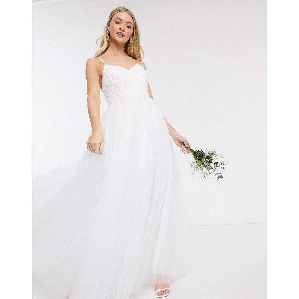Robe longue de mariée en tulle - Y.A.S - Modalova