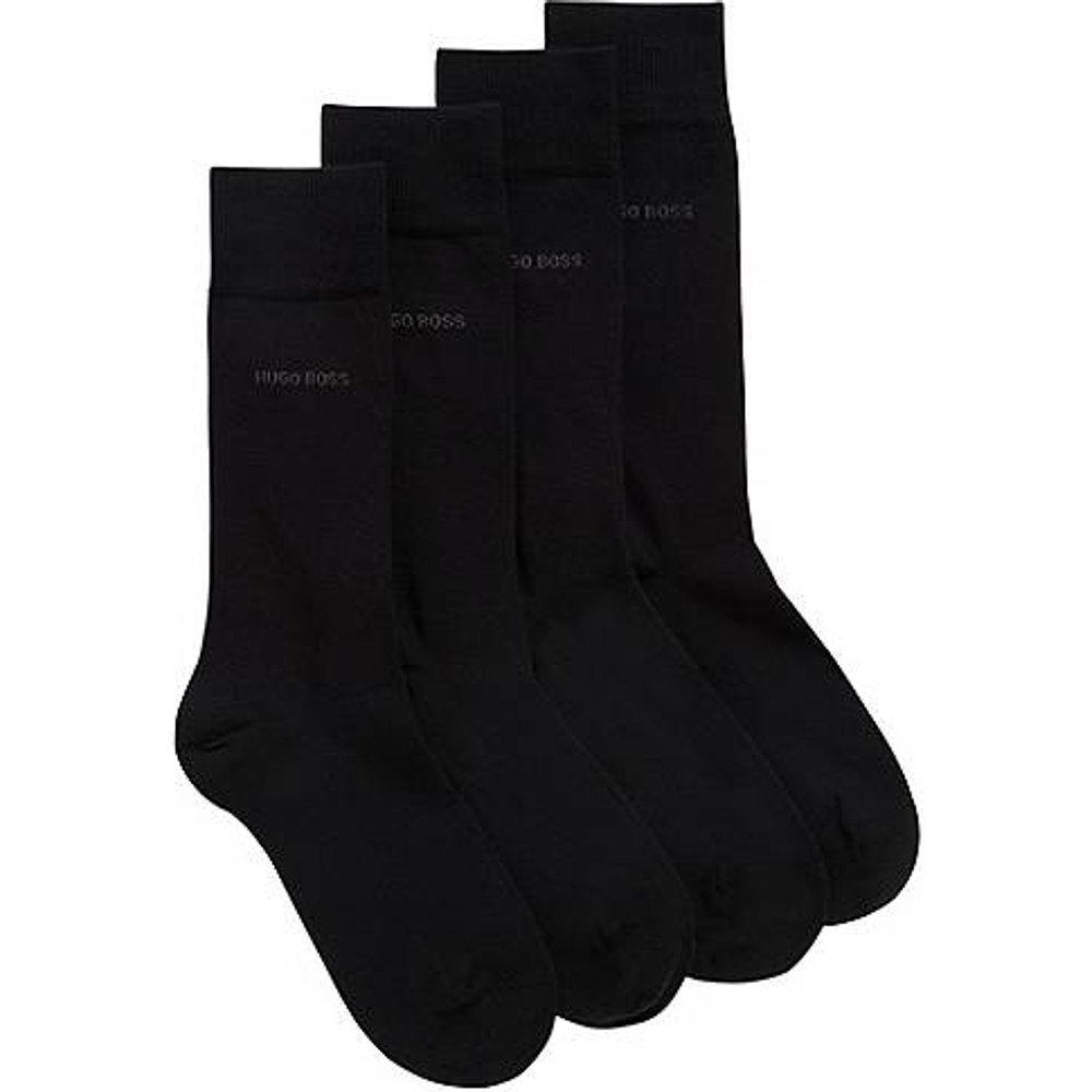 Lot de deux paires de chaussettes mi-hautes en coton mélangé - Boss - Modalova