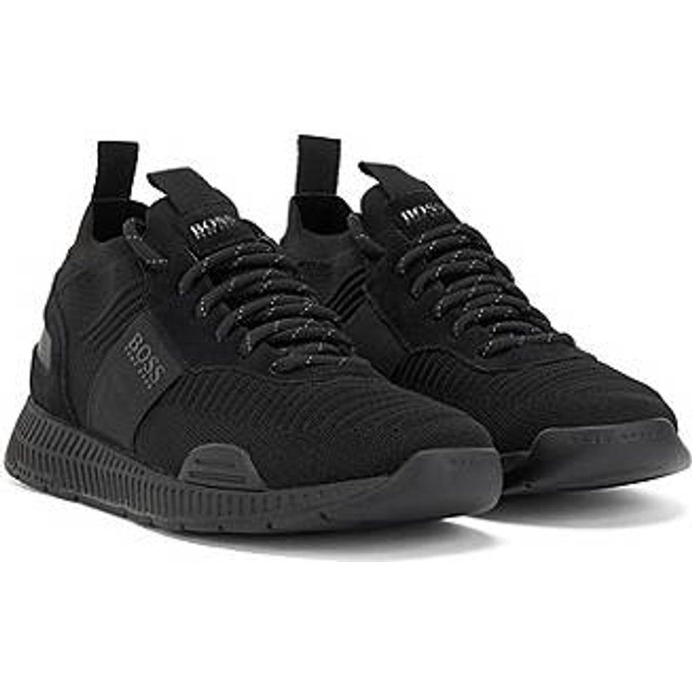 Baskets hybrides style chaussures de course avec chaussette en maille - Boss - Modalova