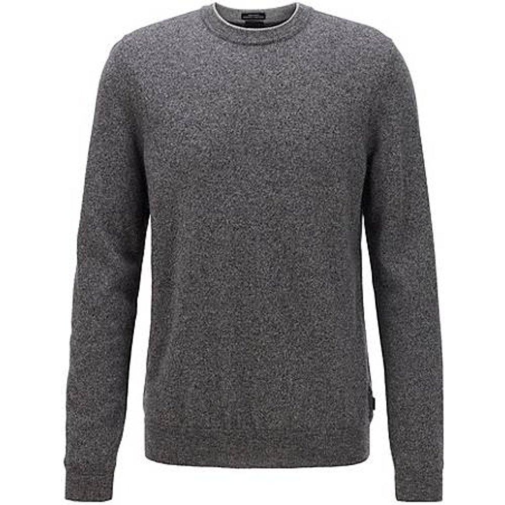 Pull Regular Fit en laine vierge moulinée - Boss - Modalova
