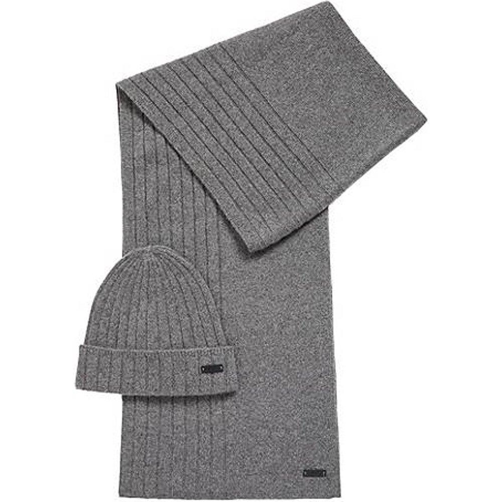 Ensemble bonnet et écharpe en pur cachemire - Boss - Modalova