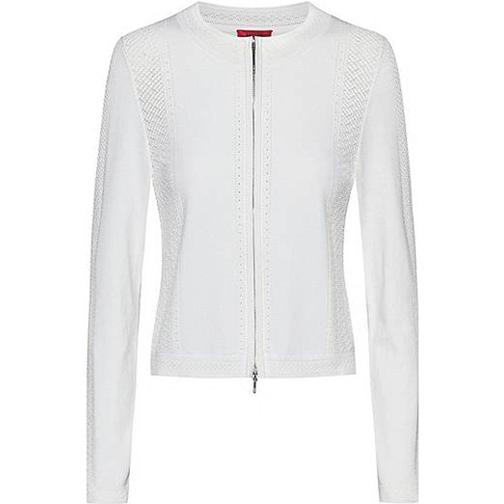 Veste zippée avec maille effet dentelle - HUGO - Modalova