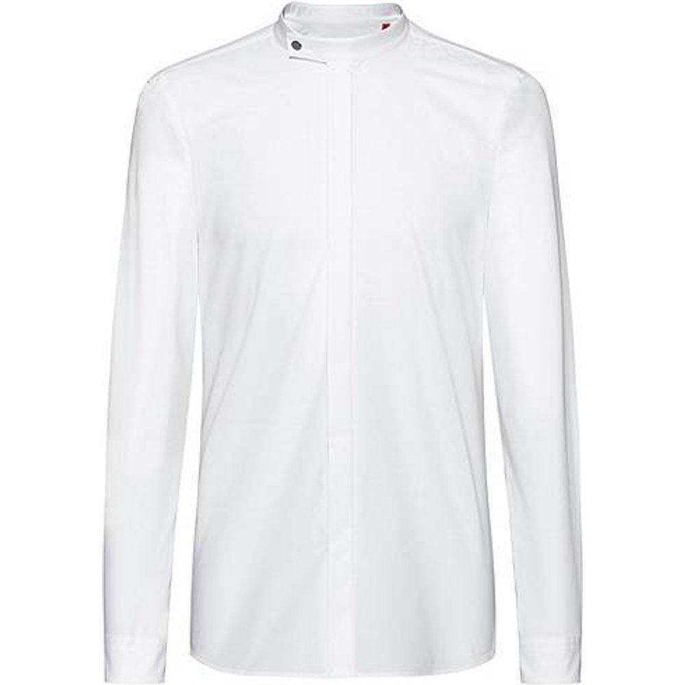 Chemise Extra Slim Fit à col mao en coton - HUGO - Modalova