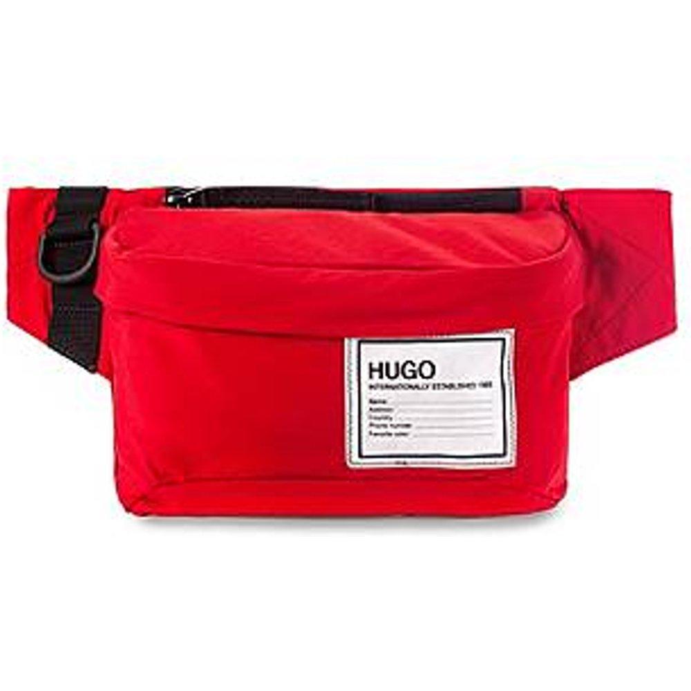 Sac ceinture à fermeture éclair et patch logoté - HUGO - Modalova