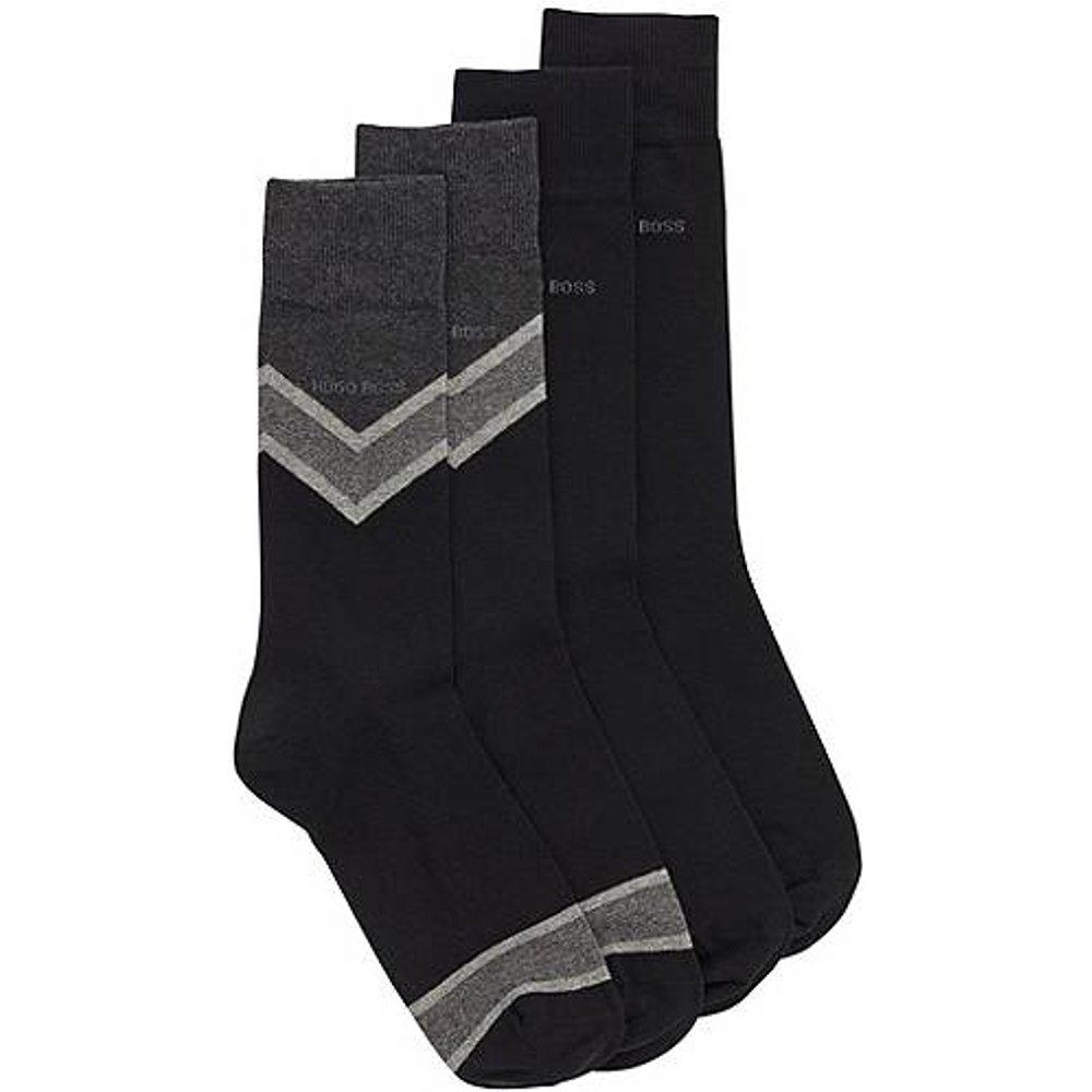 Lot de deux paires de chaussettes mi-hautes en tissu peigné - Boss - Modalova