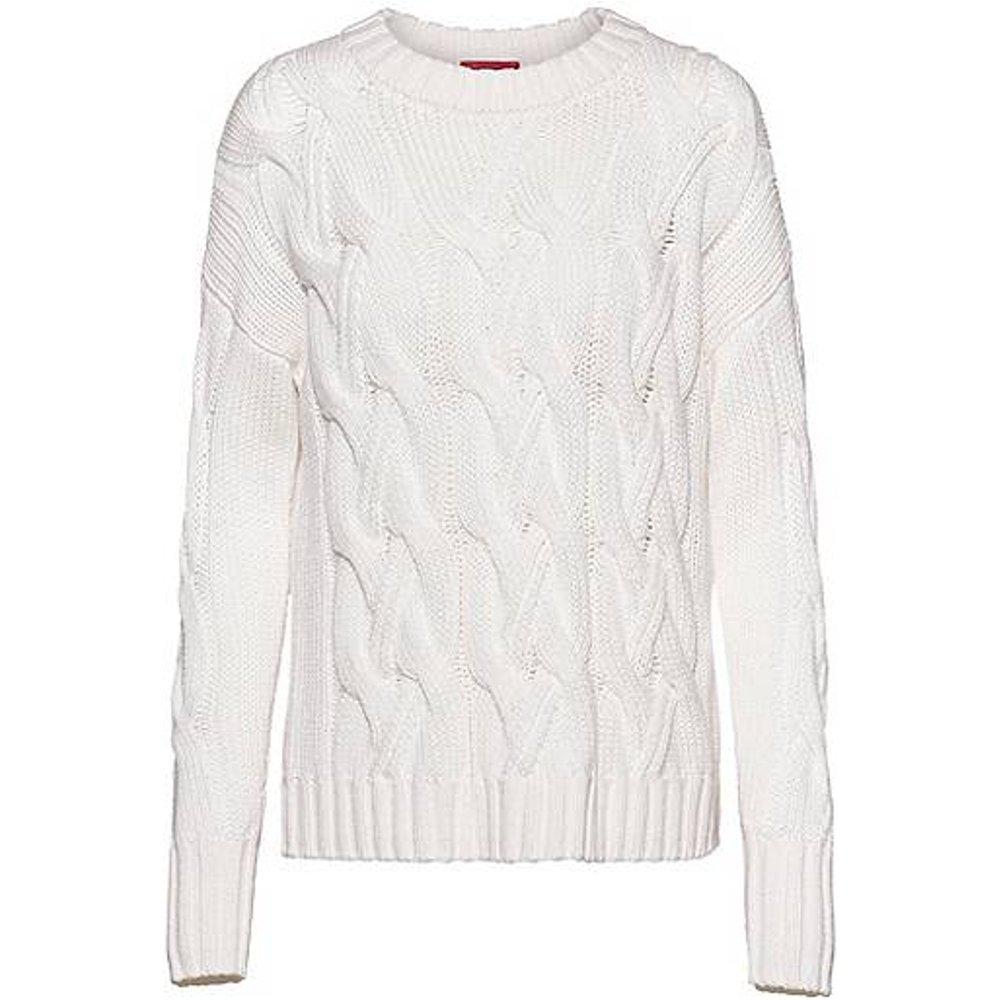 Pull en laine vierge à grosses torsades - HUGO - Modalova