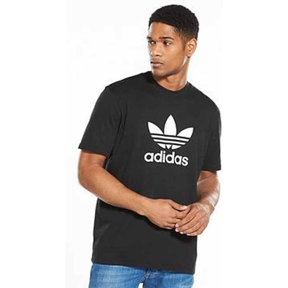 Adidas Mens Trefoil T-Shirt - Black, Large