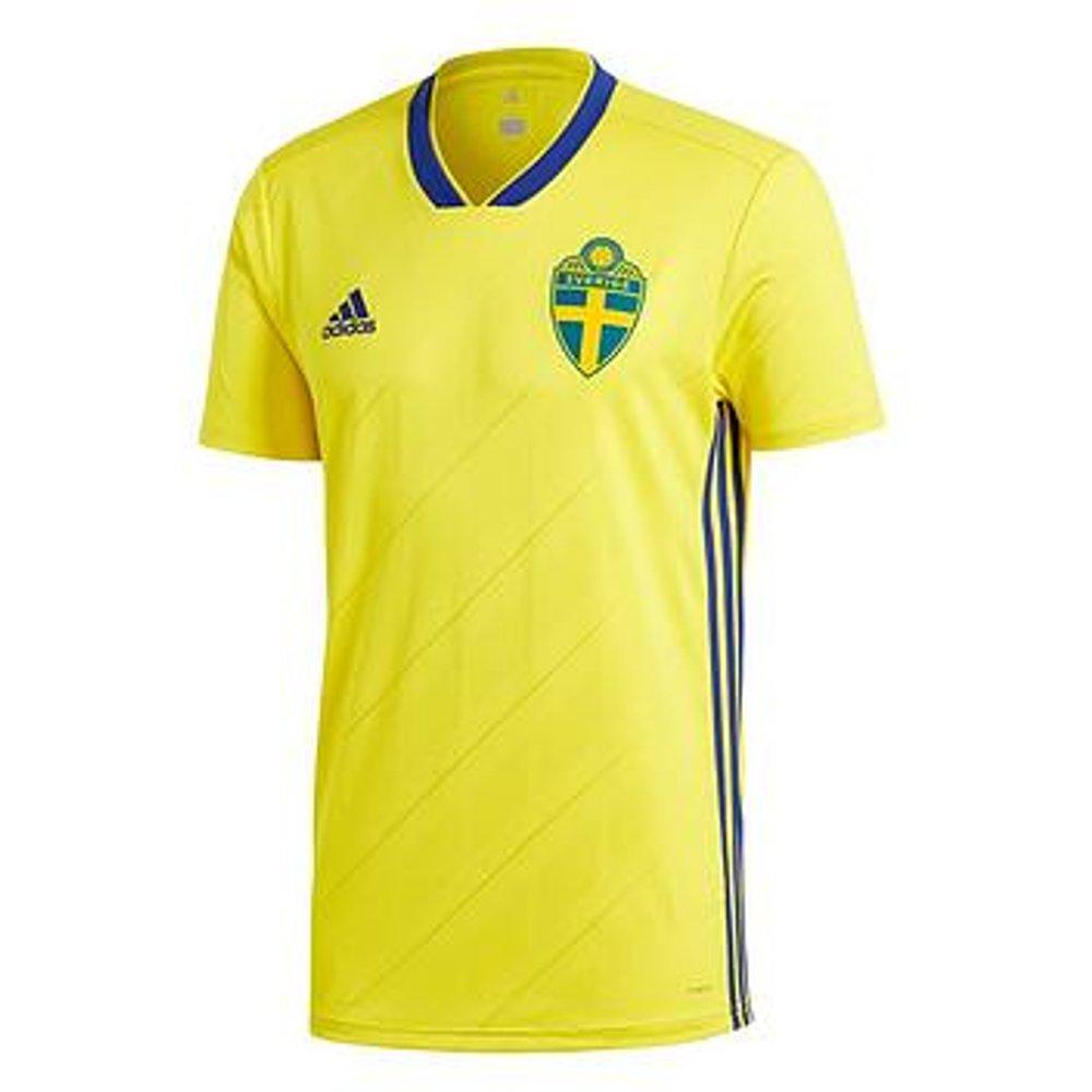 adidas Swedish Federation Away Shirt, Men, Men, BR3838, Yellow yellowmixed, Large