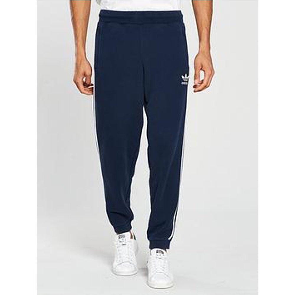 adidas Mens 3-Stripes Pants, Collegiate Navy, X-Large