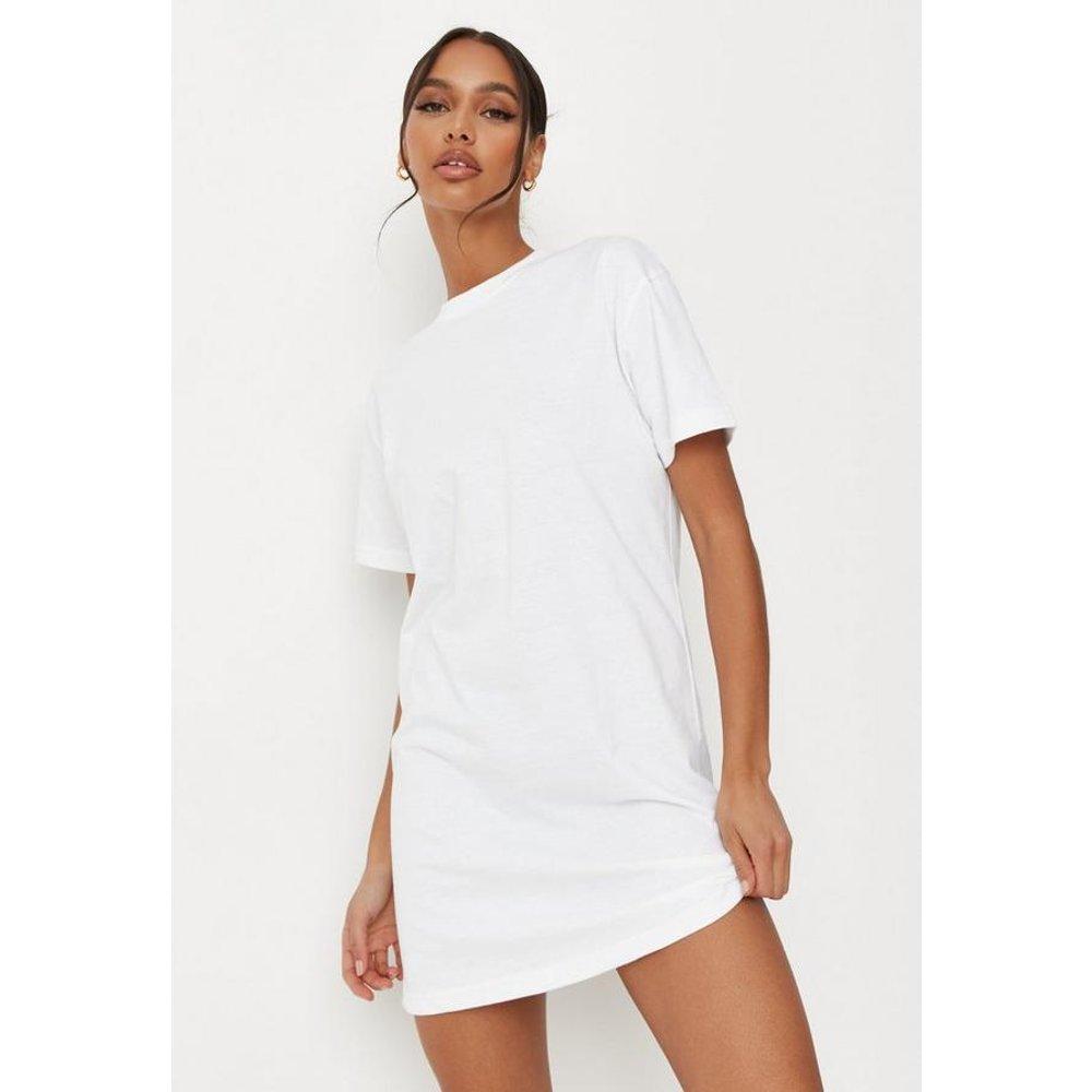 Robe t-shirt blanche basique, Blanc - Missguided - Modalova