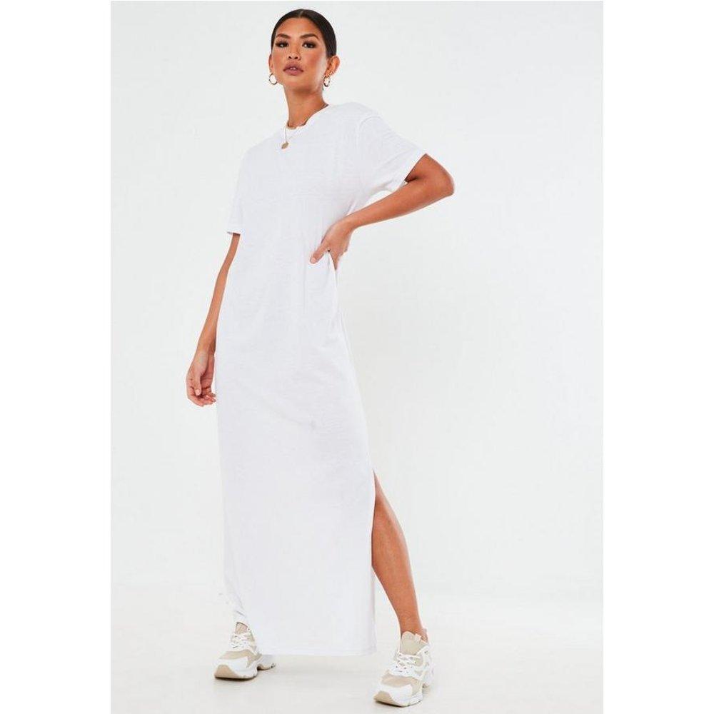 Robe t-shirt longue blanche basique - Missguided - Modalova