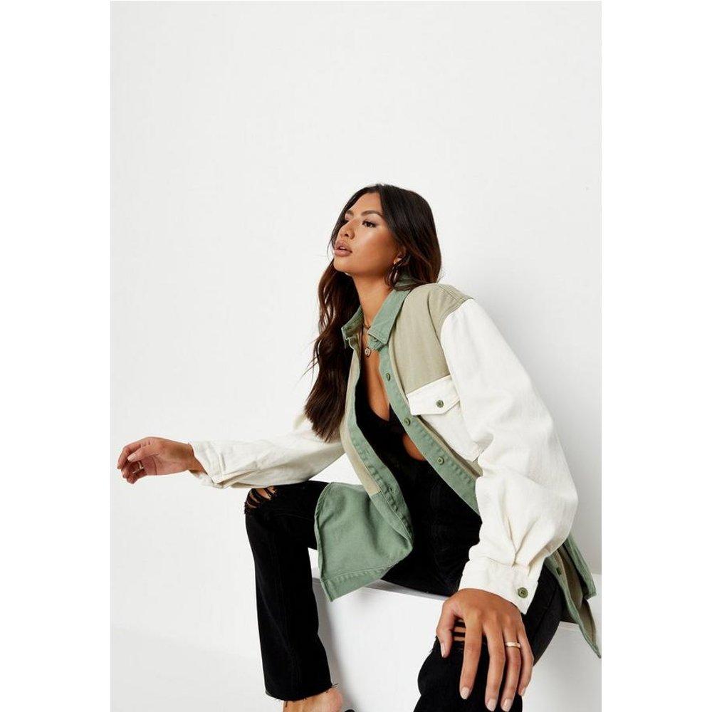 Chemise en jean oversize colour block - Missguided - Modalova