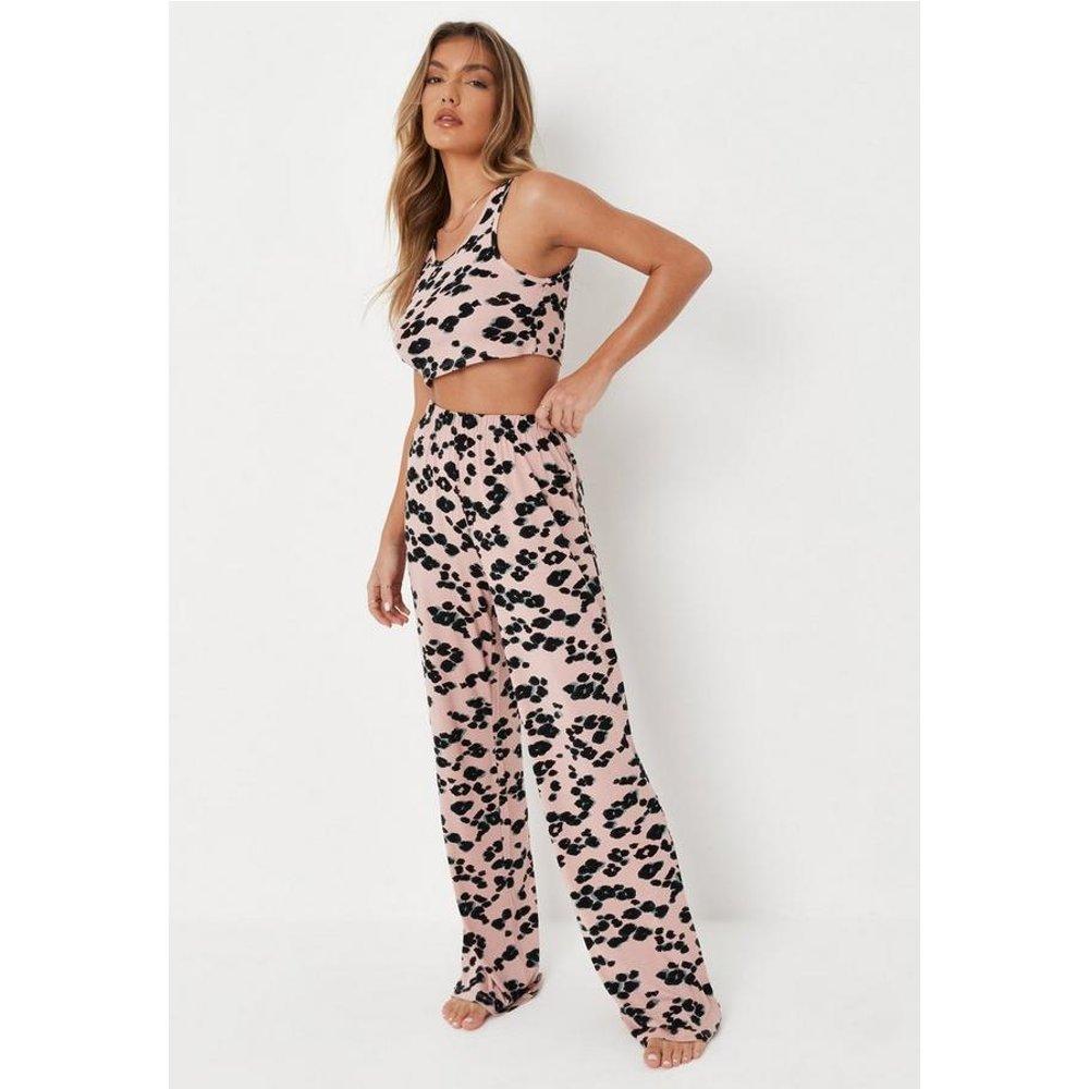 Pyjama long rose léopard, Rose - Missguided - Modalova