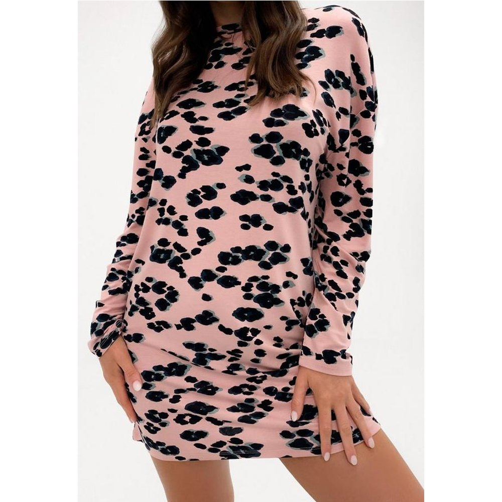 Chemise de nuit à imprimé léopard oversize - Missguided - Modalova