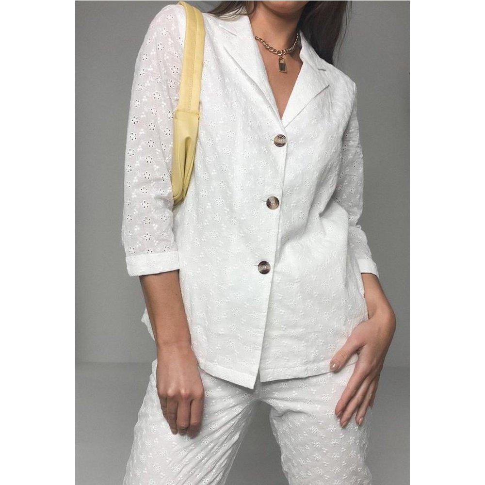 Chemise blanche en broderie anglaise - Missguided - Modalova