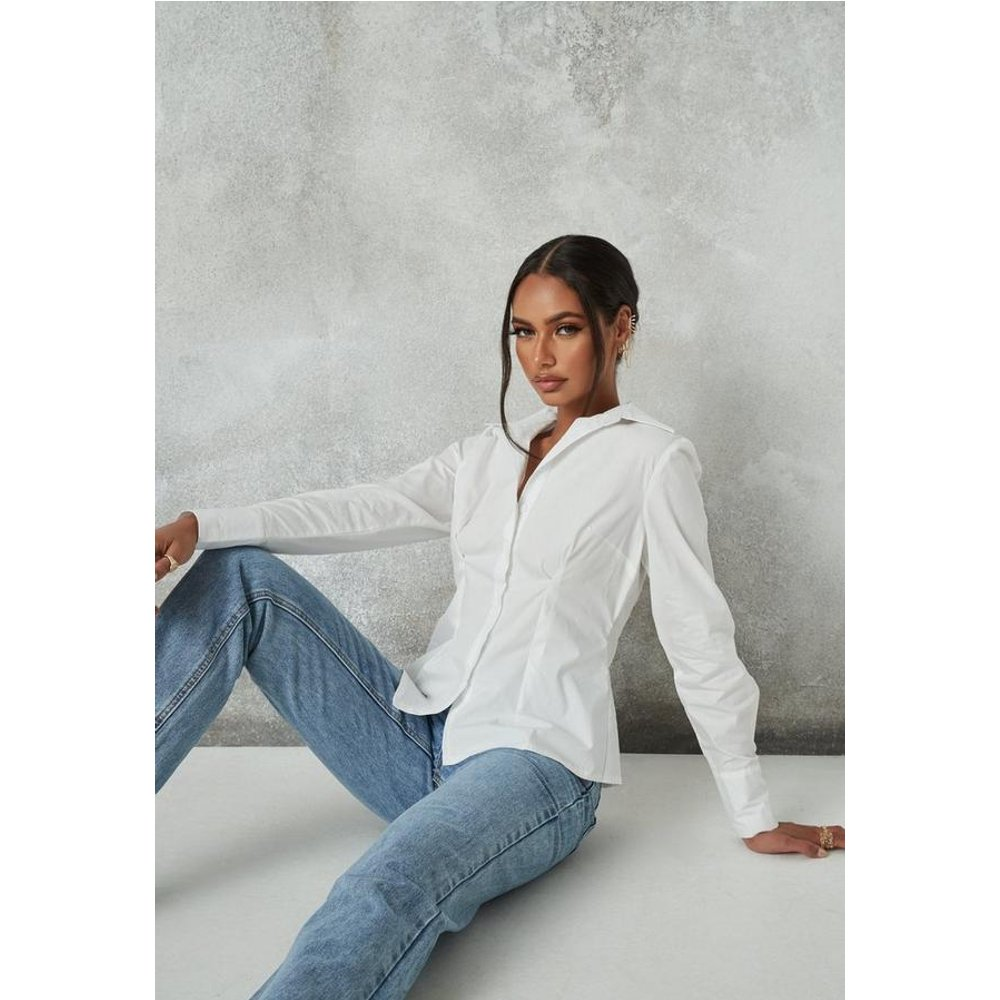 Chemise slim blanche, Blanc - Missguided - Modalova