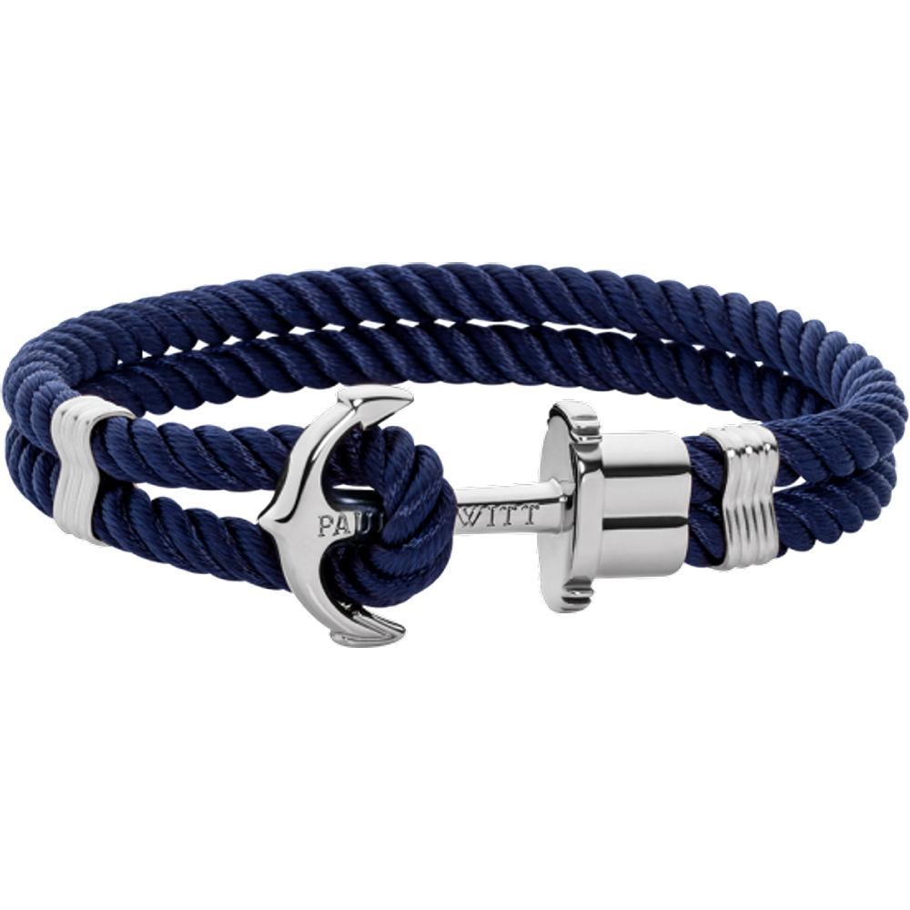 Bracelet Ancre Phrep Argenté Nylon Marine - PAUL HEWITT - Modalova