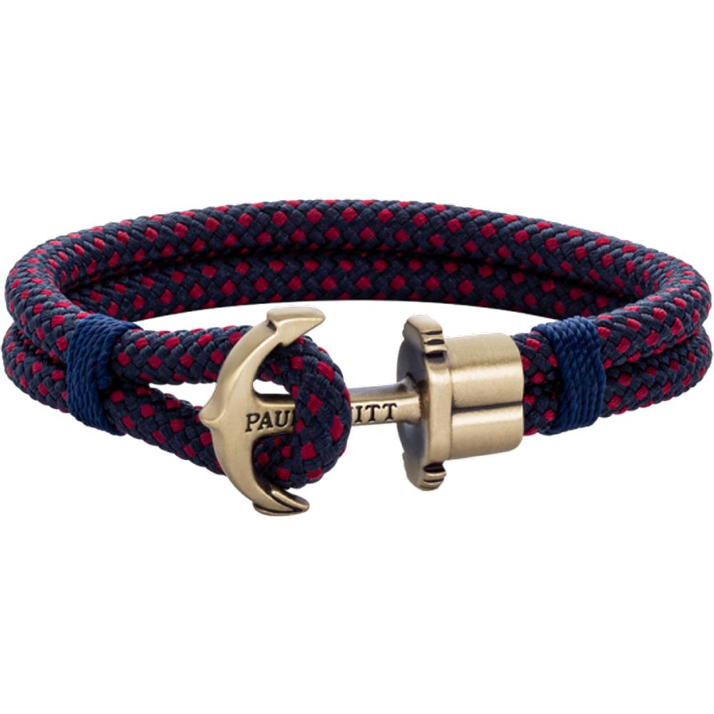 Bracelet Ancre Phrep Laiton Nylon Marine Rouge - PAUL HEWITT - Modalova