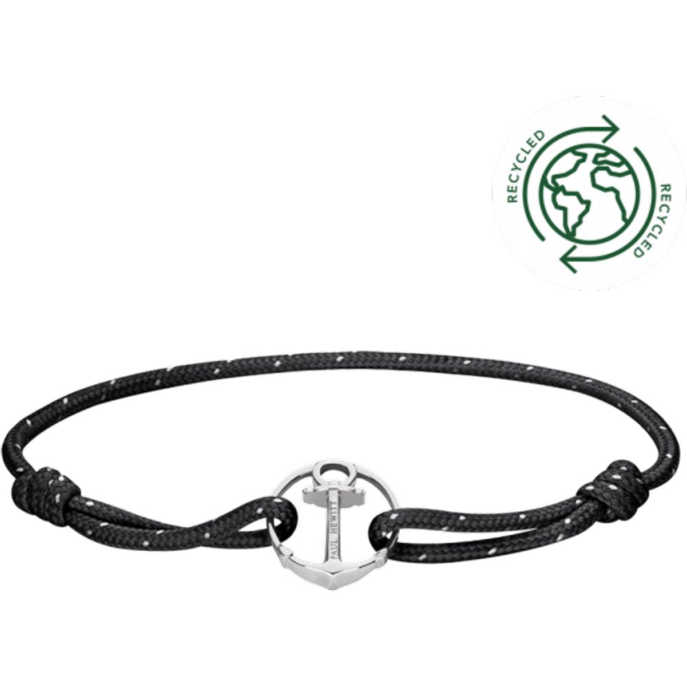 Bracelet Re/Brace Argenté Noir - PAUL HEWITT - Modalova