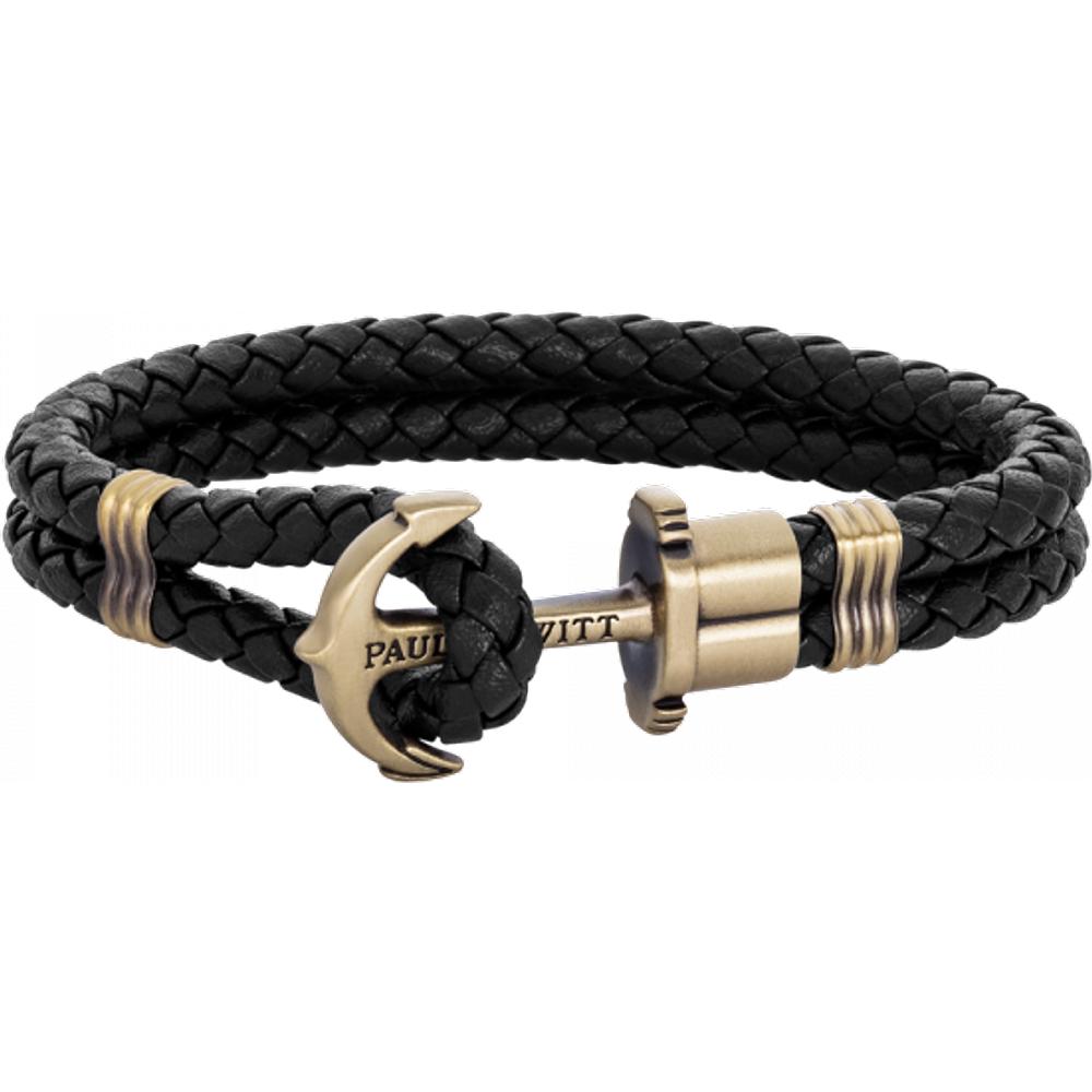 Bracelet Ancre Phrep Laiton Cuir - PAUL HEWITT - Modalova
