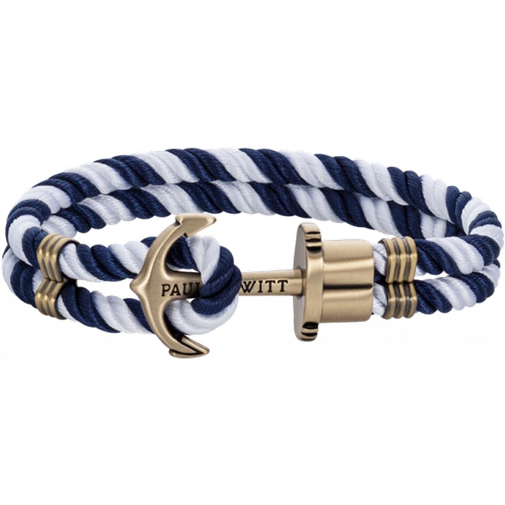 Bracelet Ancre Phrep Laiton Nylon Marine Blanc - PAUL HEWITT - Modalova