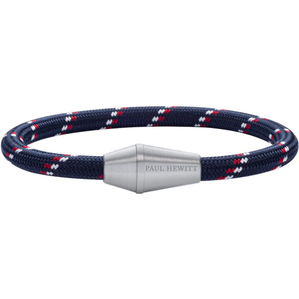 Bracelet Conic Argenté Nylon Marine Rouge Blanc - PAUL HEWITT - Modalova