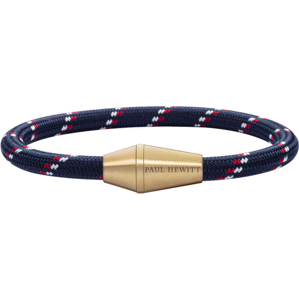 Bracelet Conic Laiton Nylon Marine Rouge Blanc - PAUL HEWITT - Modalova