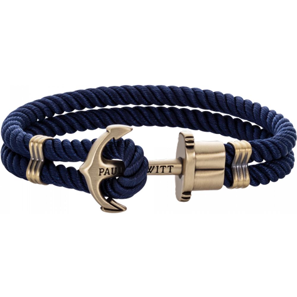 Bracelet Ancre Phrep Laiton Nylon Marine - PAUL HEWITT - Modalova