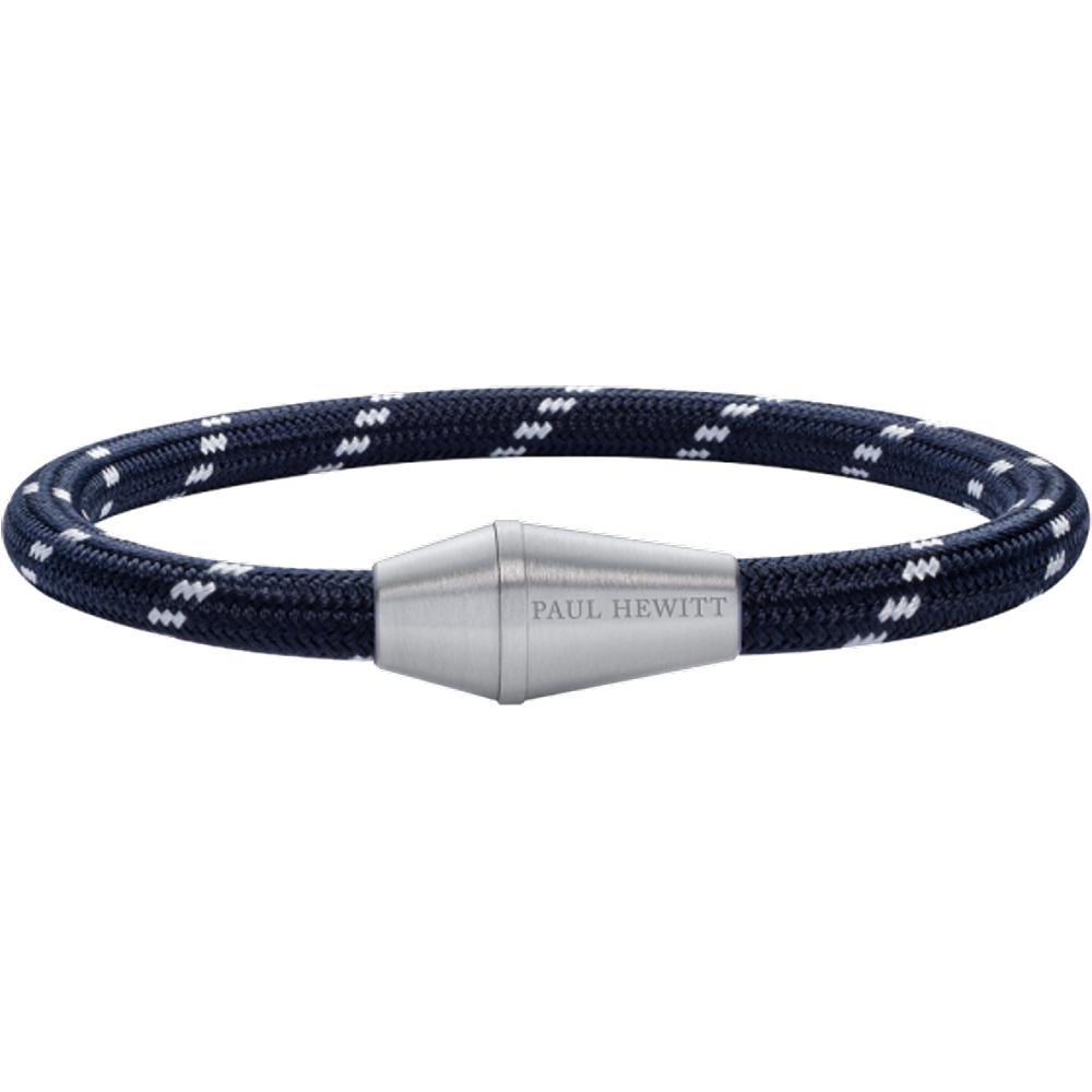 Bracelet Conic Argenté Nylon Marine Blanc - PAUL HEWITT - Modalova