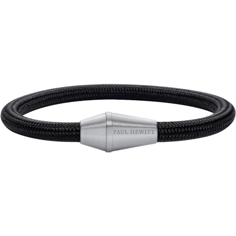 Bracelet Conic Argenté Nylon Noir - PAUL HEWITT - Modalova