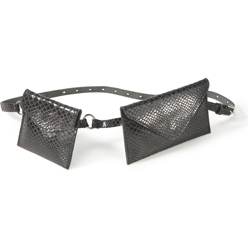 La ceinture-pochettes cuir verni taille 105 - Peter Hahn - Modalova