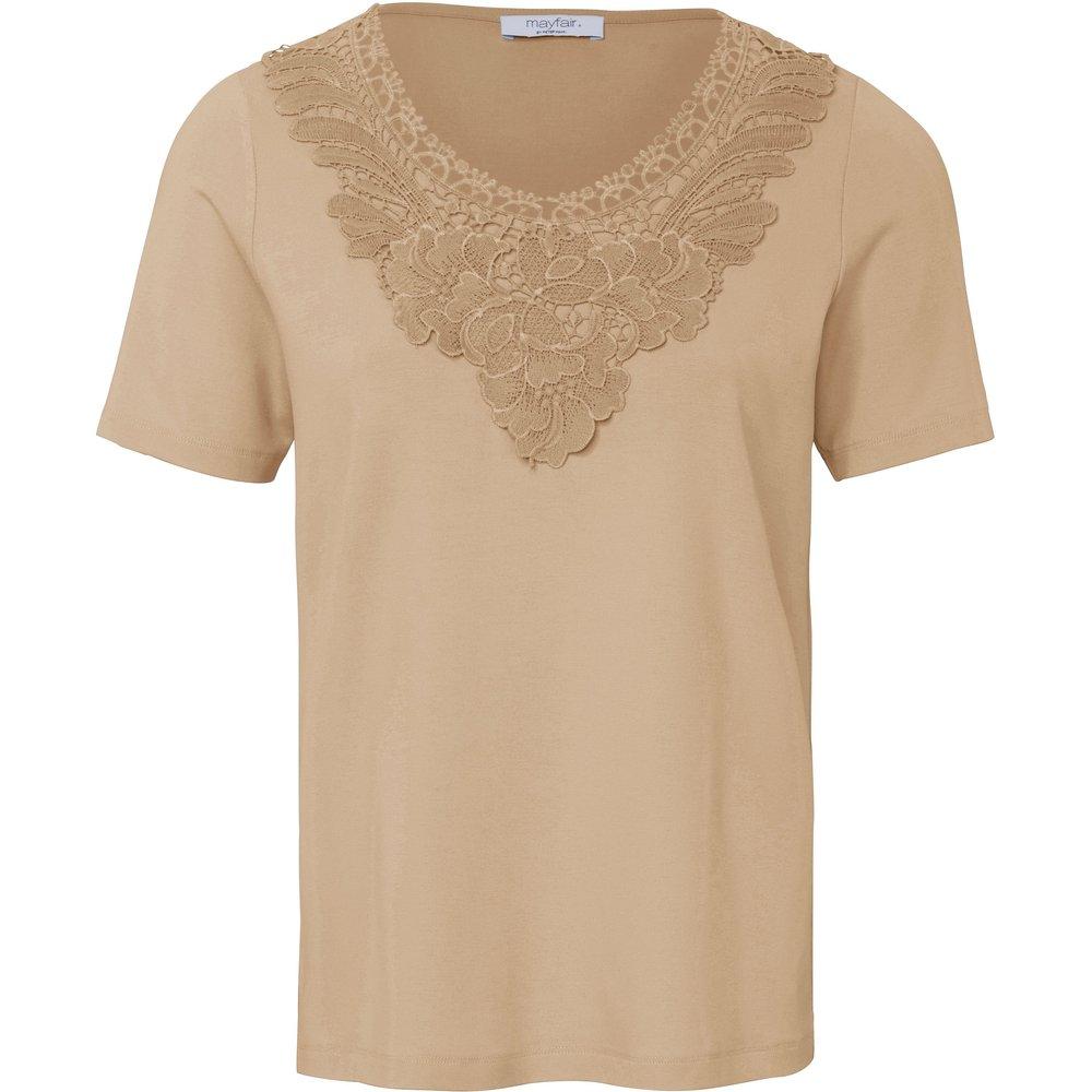 Le T-shirt avec empiècement dentelle florale taille 38 - mayfair by Peter Hahn - Modalova