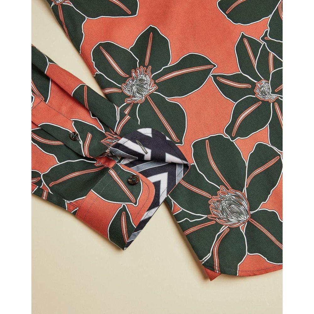 Floral Print Cotton Shirt - Ted Baker - Modalova