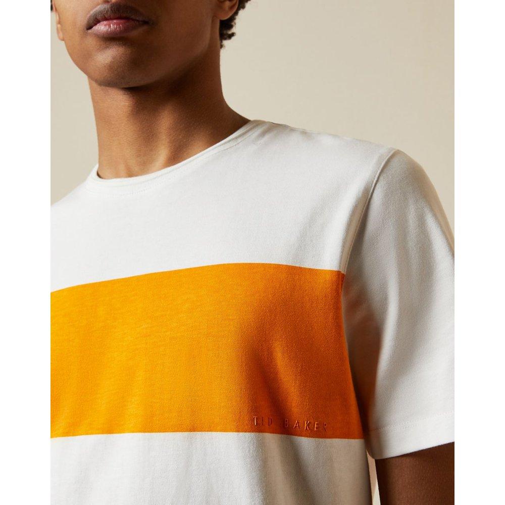 Cotton Chest Stripe T-shirt - Ted Baker - Modalova