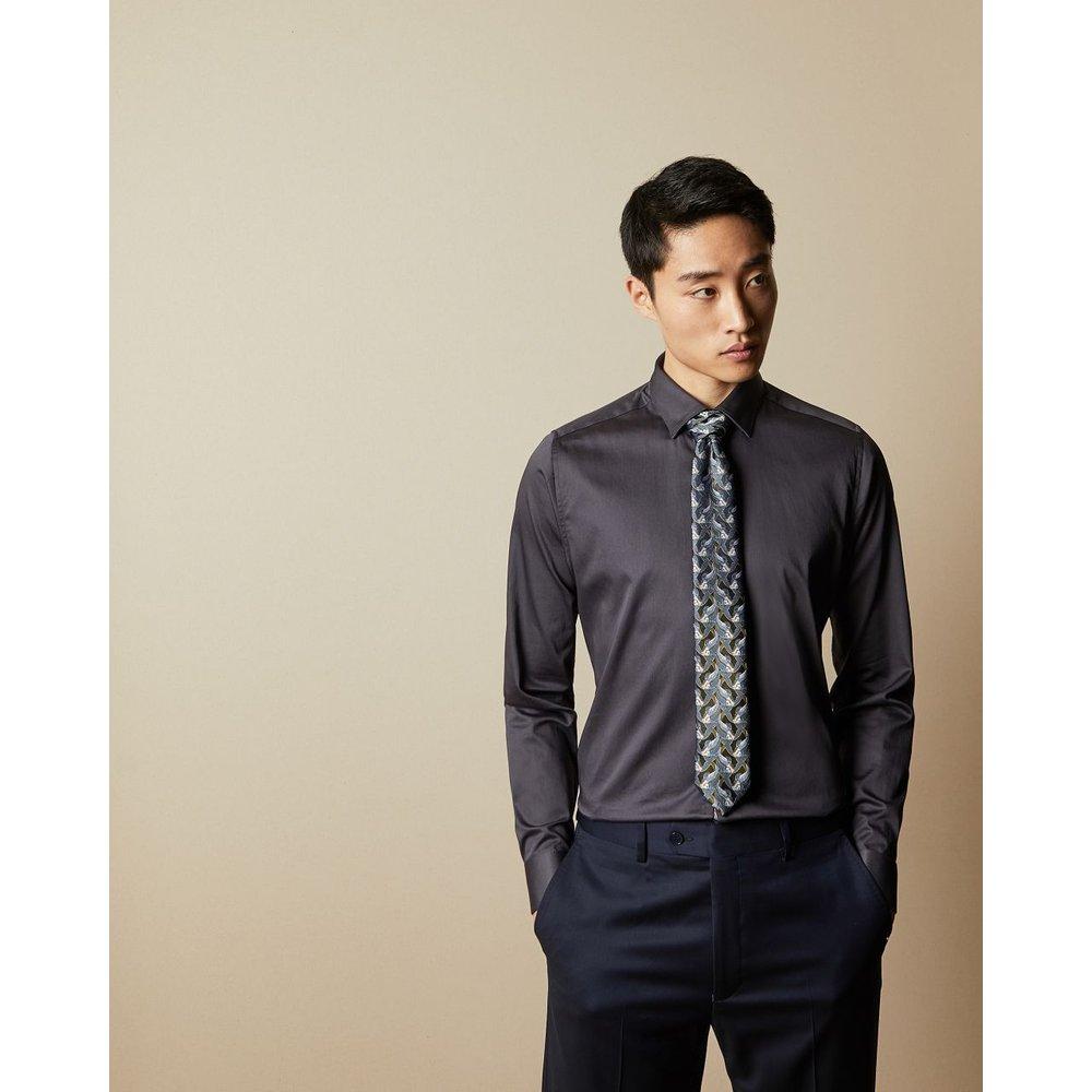 Cravate En Soie Imprimé Poisson - Ted Baker - Modalova