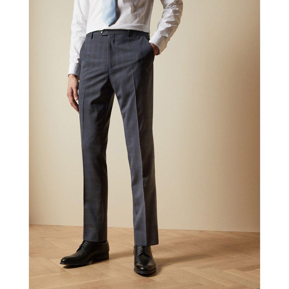 Pantalon De Costume En Laine À Carreaux Coupe Skinny Debonair - Ted Baker - Modalova