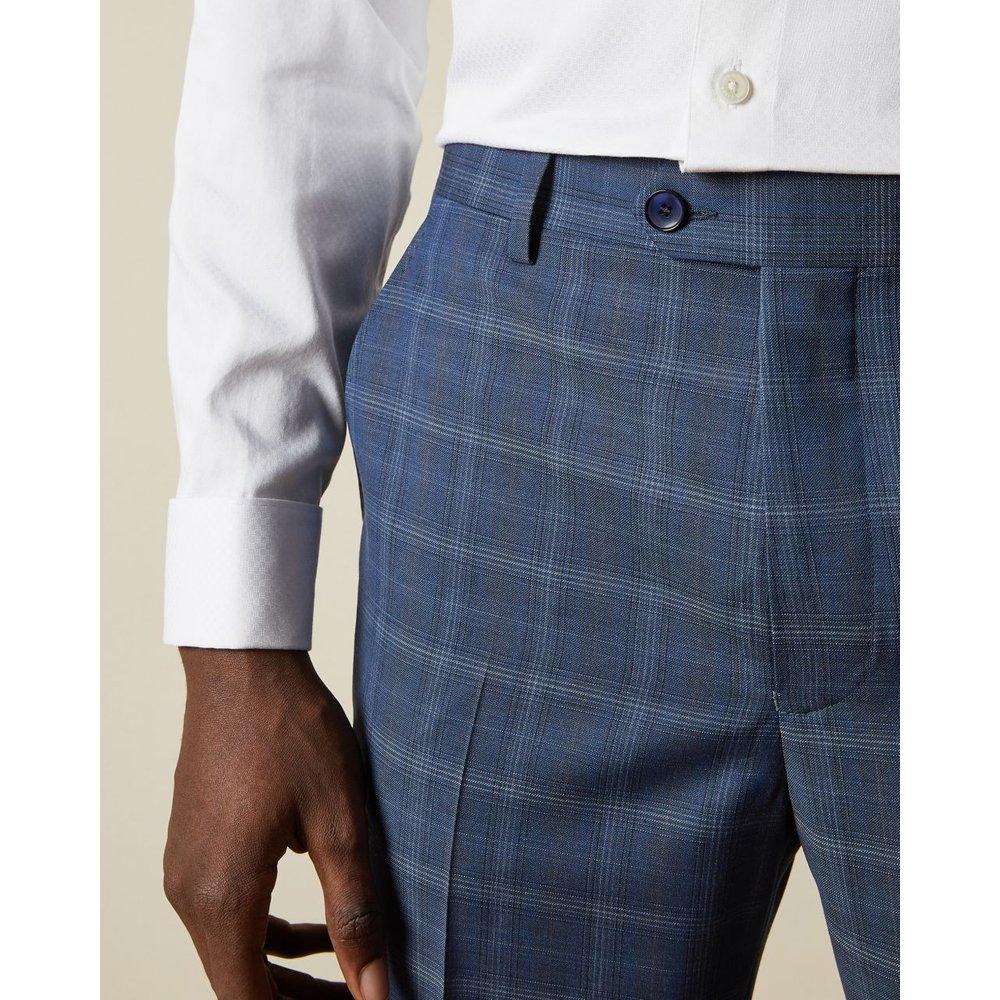 Pantalon De Costume En Laine À Carreaux - Ted Baker - Modalova