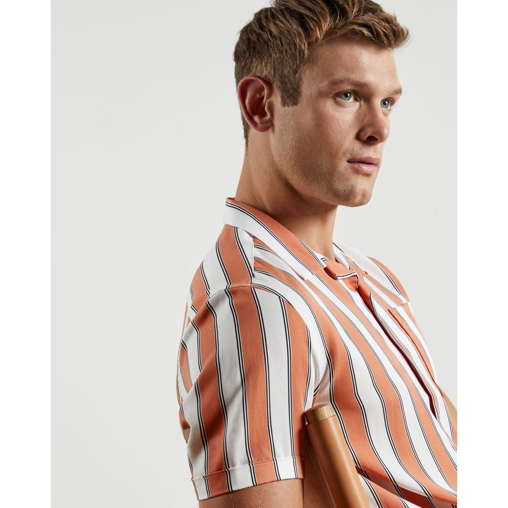 Lyocell Striped Shirt - Ted Baker - Modalova