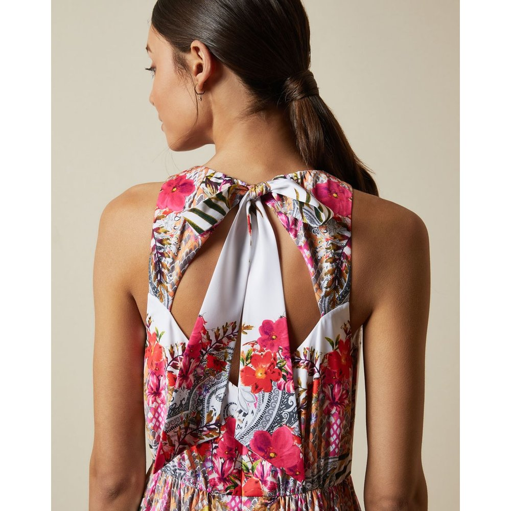 Robe Longue Col Haut Imprimé Samba - Ted Baker - Modalova