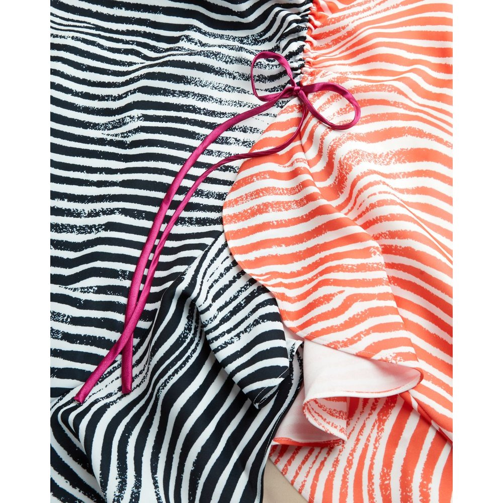 Zebra Print Ruche Detail Dress - Ted Baker - Modalova