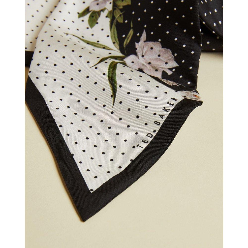 Elderflower Silk Skinny Tie Scarf - Ted Baker - Modalova