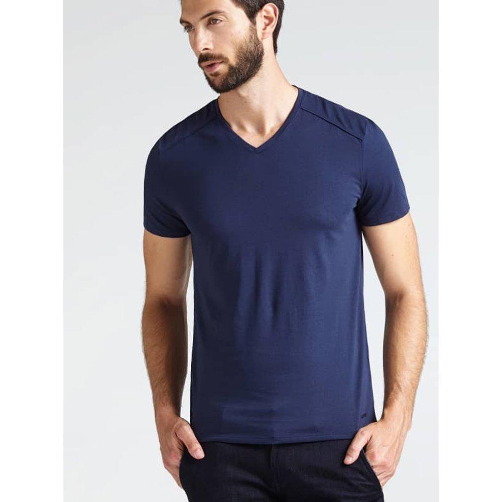 T-Shirt Col En V - Guess - Modalova