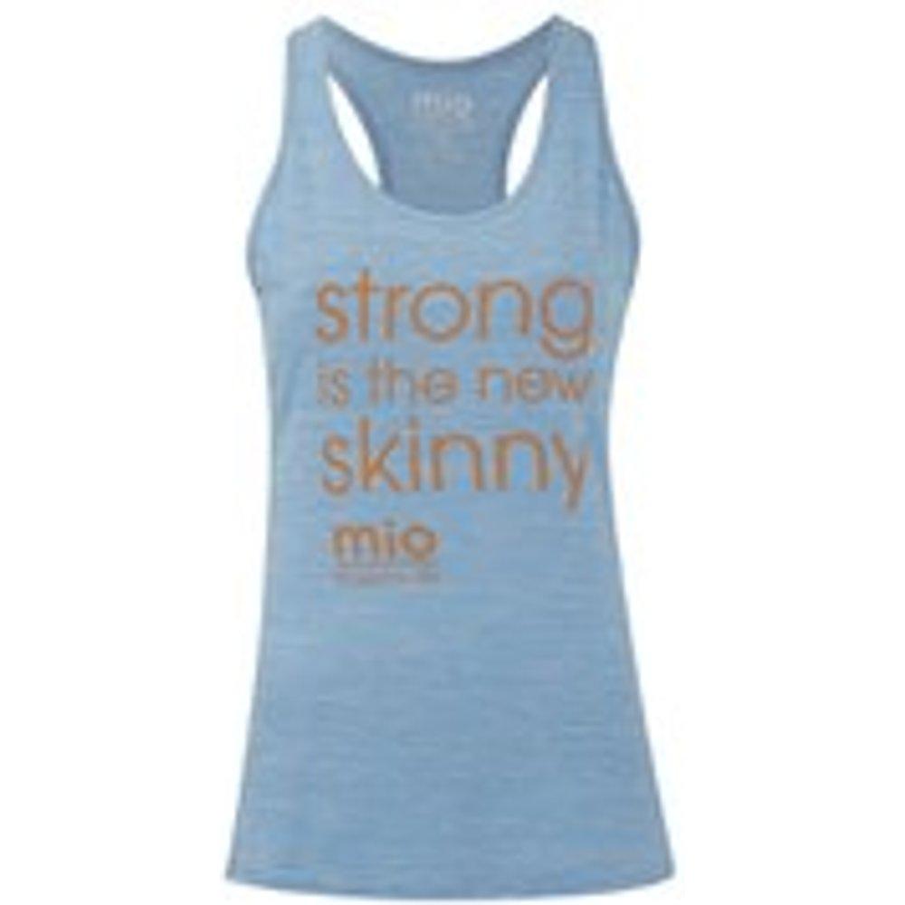 Mio Skincare Women's Performance Slogan Vest - Light Blue - UK 6 - Blue