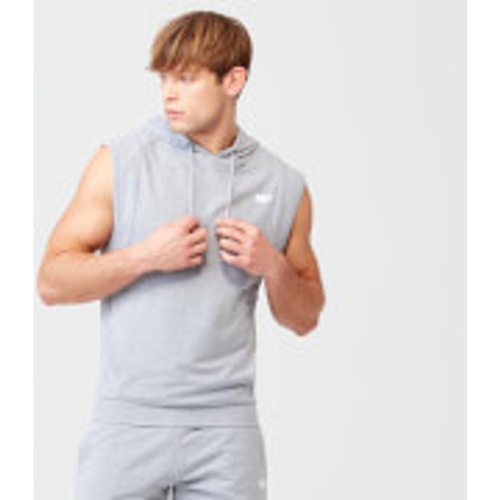 Form Sleeveless Hoodie - S - Grey Marl