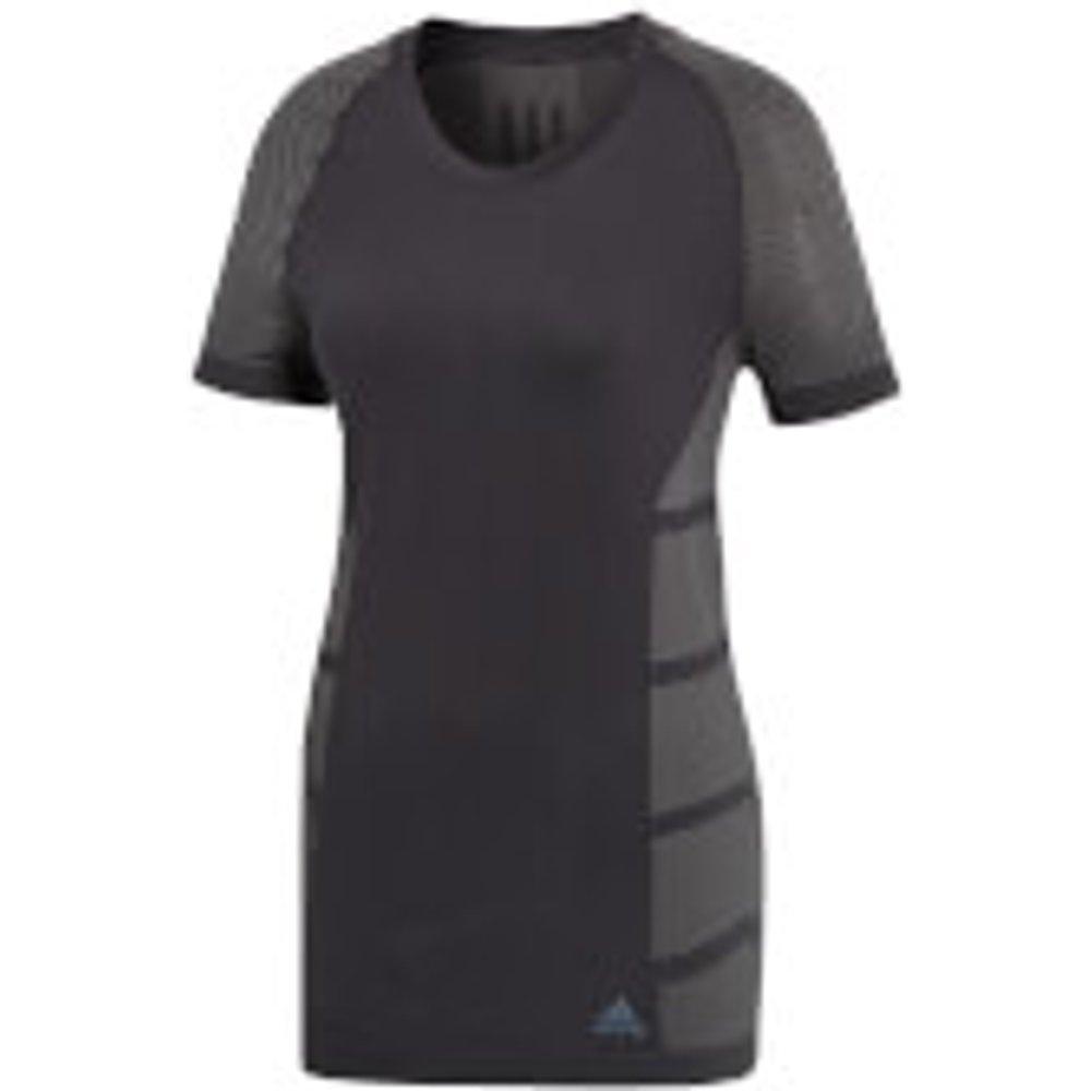 adidas Women's Ultra Light Running T-Shirt - Black/Grey - XS - Black/Grey