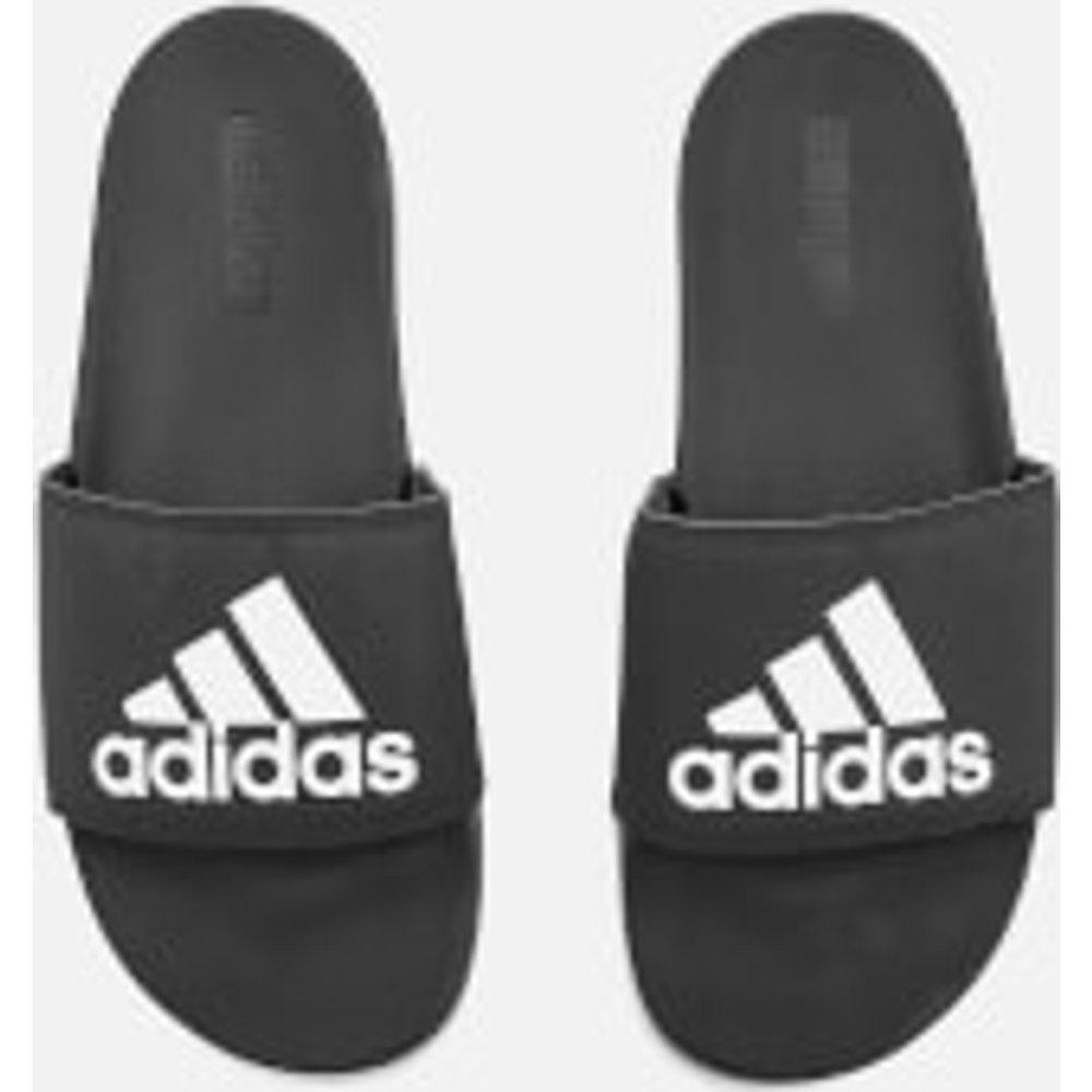 adidas Men's Adilette Logo Slide Sandals - Core Black - UK 11 - Black